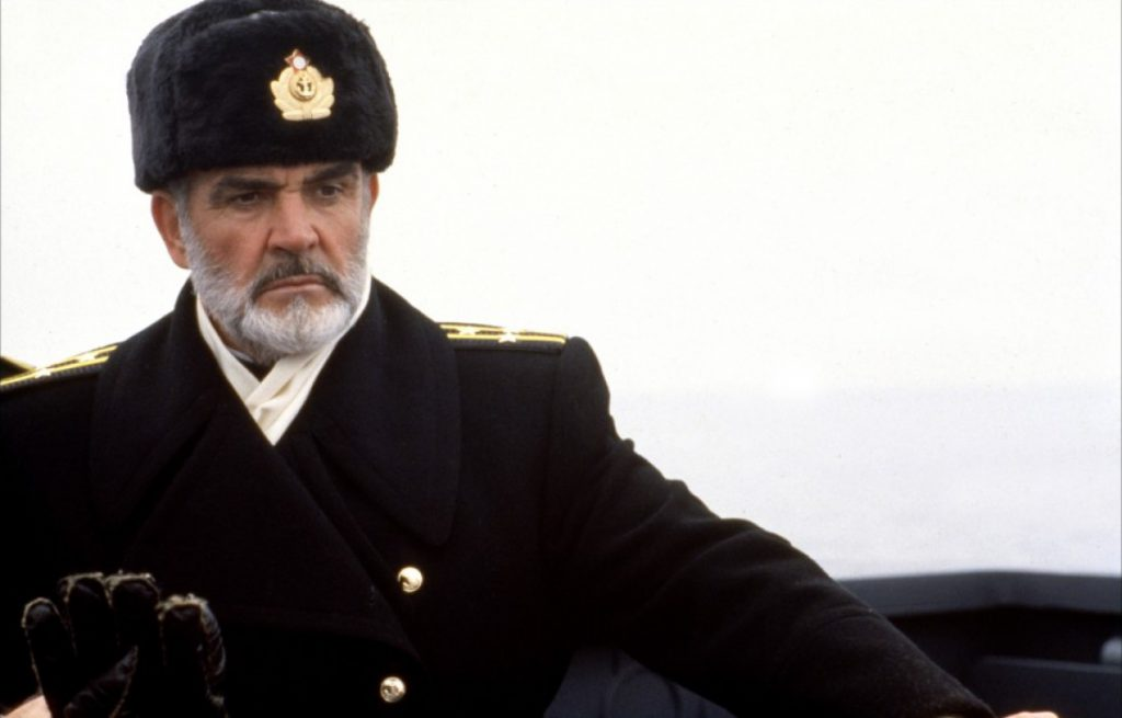 Sean Connery dans A la Poursuite d'Octobre Rouge