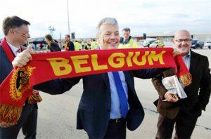 Didier Reynders sur le tarmac