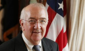 Ken Hackett, new U.S. ambassador to the Holy See, pictured after interview in Rome