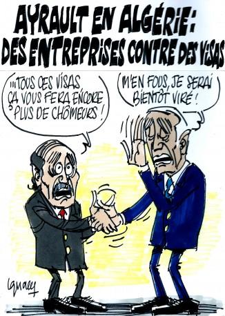 Ignace - Ayrault en Algérie : des entreprises contre des visas