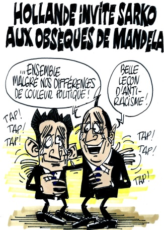 Hollande invite Sarko aux obsèques de Mandela