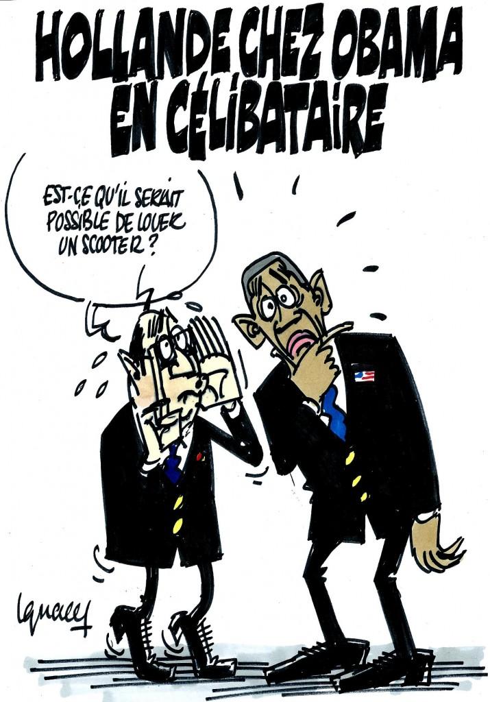 Ignace - Hollande chez Obama en célibataire