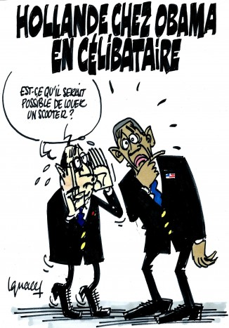 Ignace - Hollande chez Obama en célibataire