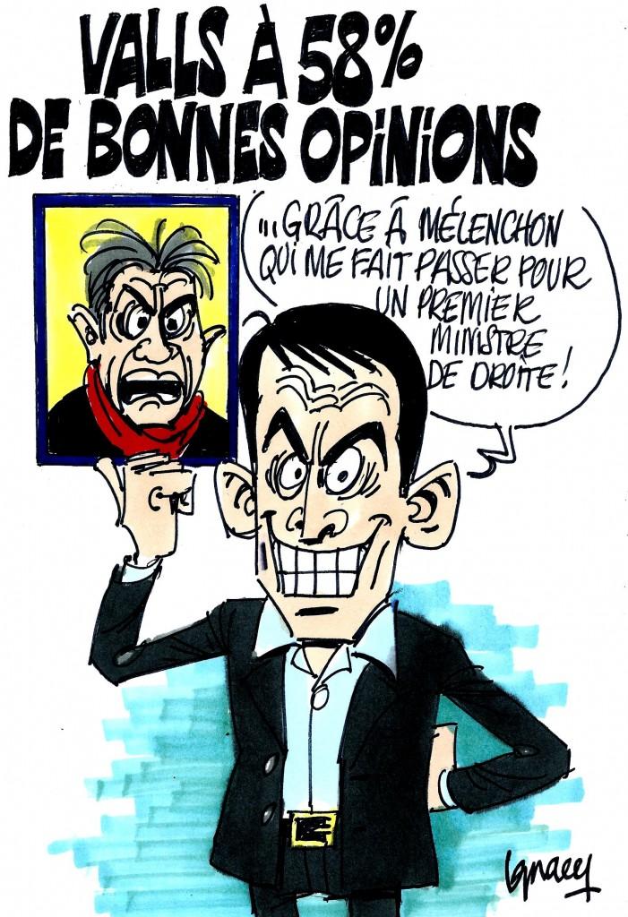 Ignace - Valls à 58% de bonnes opinions