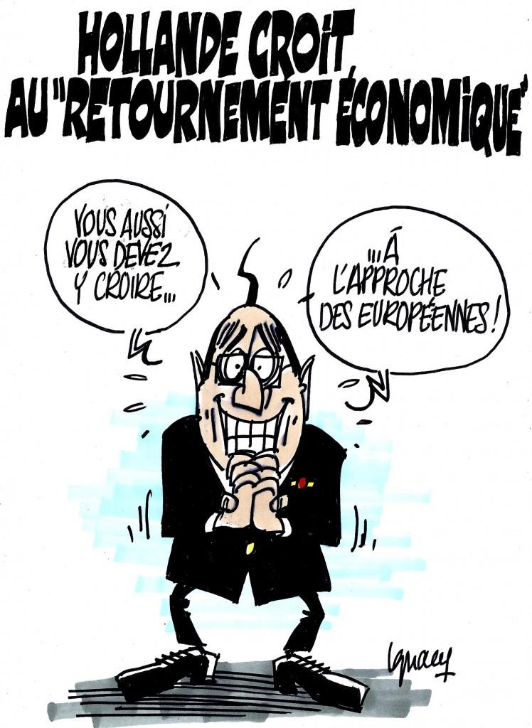 """Ignace - Hollande croit au """"retournement économique"""""""
