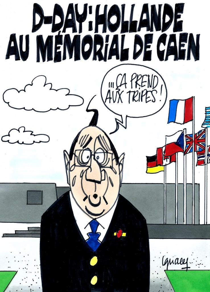Ignace - Hollande au mémorial de Caen