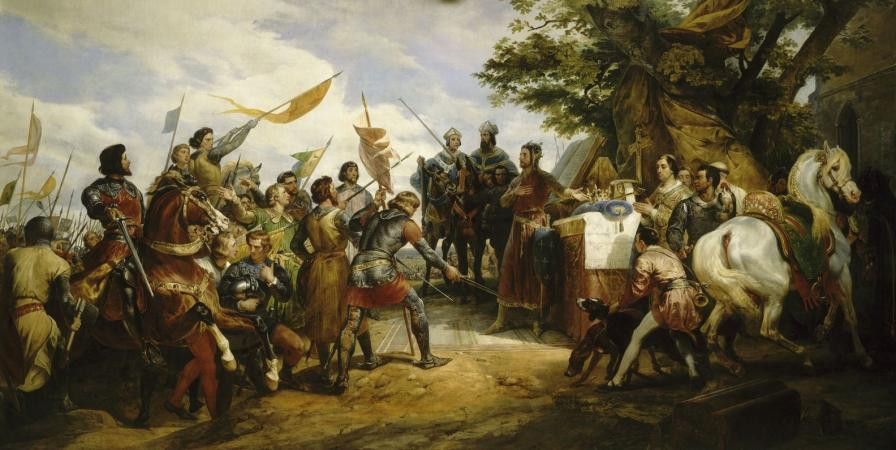 Bataille de Bouvines par Horace Vernet - Galerie des batailles - Versailles