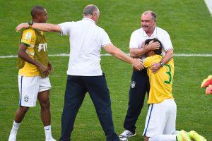 Thiago Silva en pleurs après la qualification du Brésil face au Chili