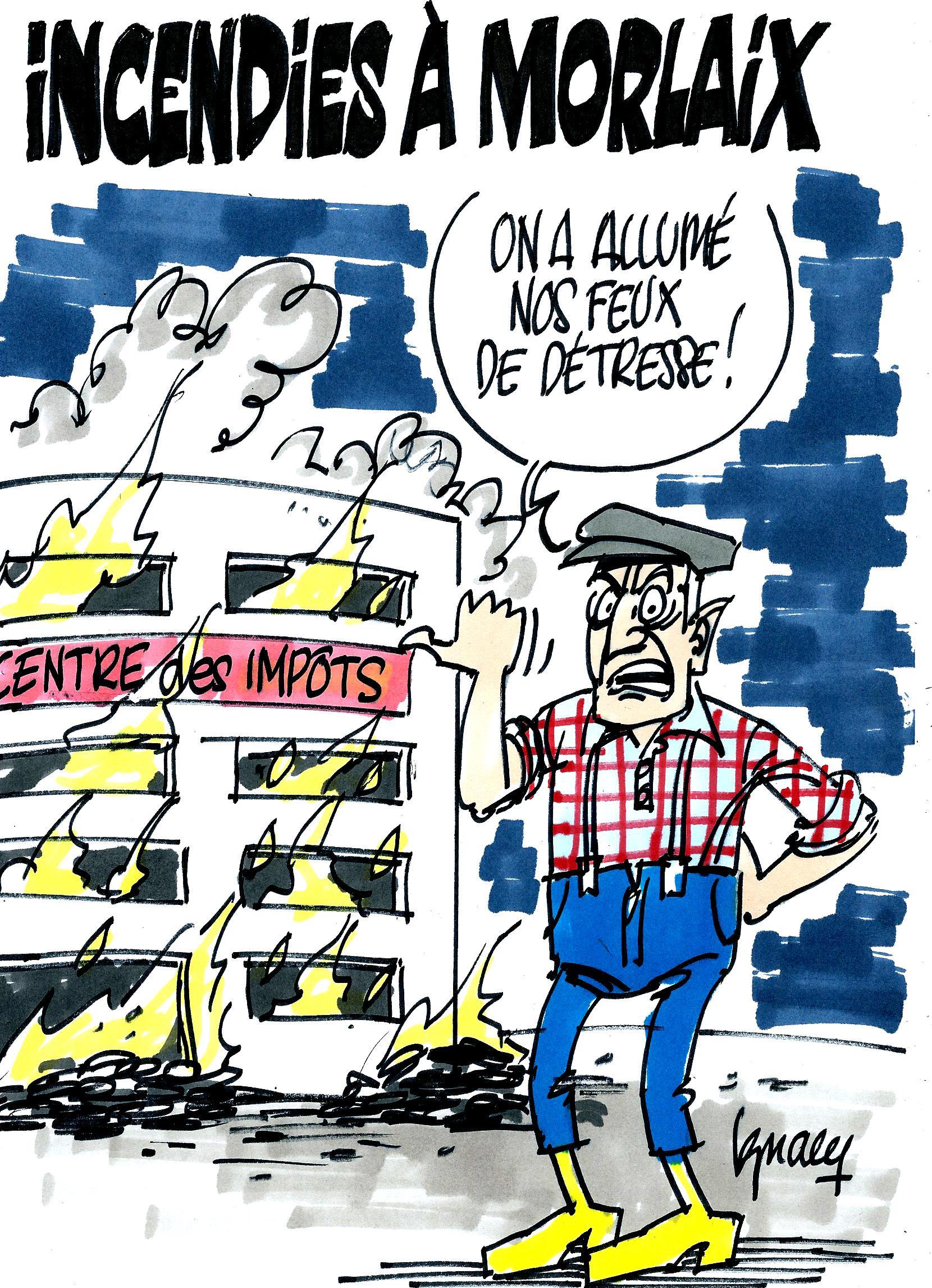 Ignace - Incendies à Morlaix