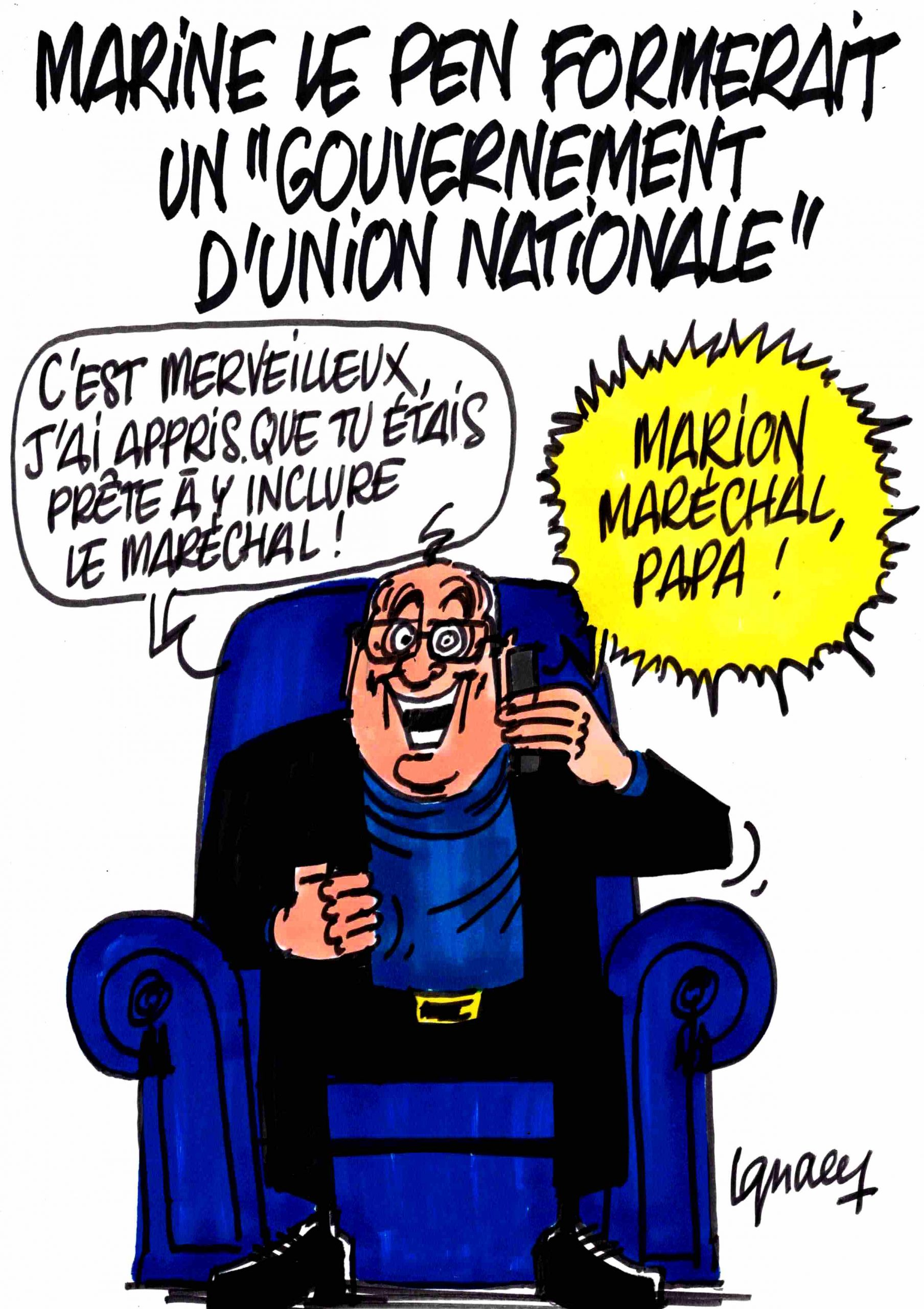 "Ignace - Marine pour un ""gouvernement d'union nationale"""