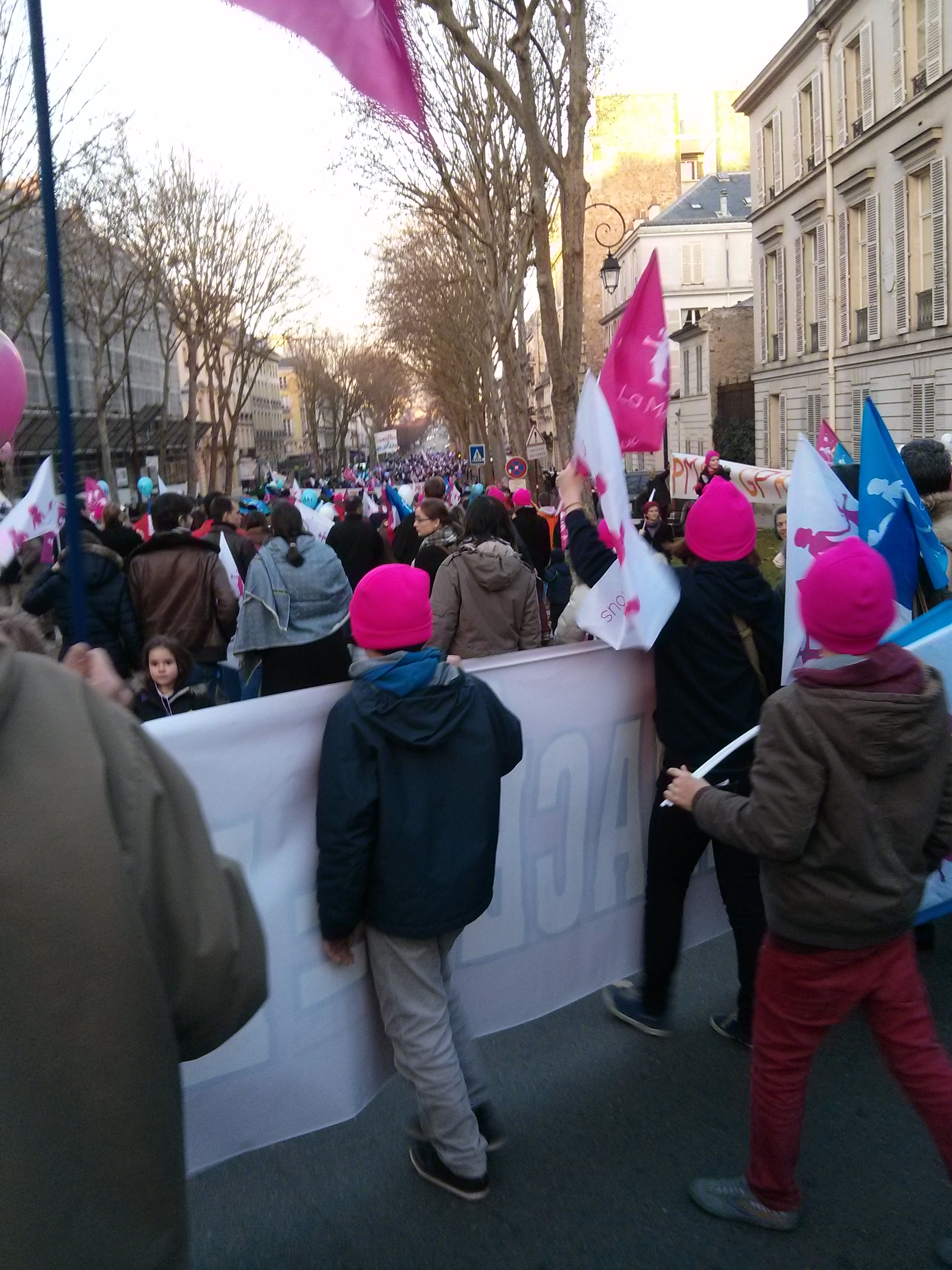 la foule en marche