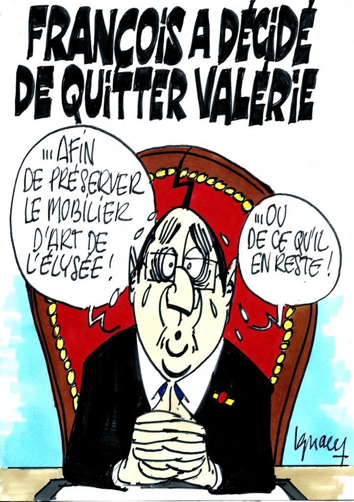 Ignace - François a décidé de quitter Valérie