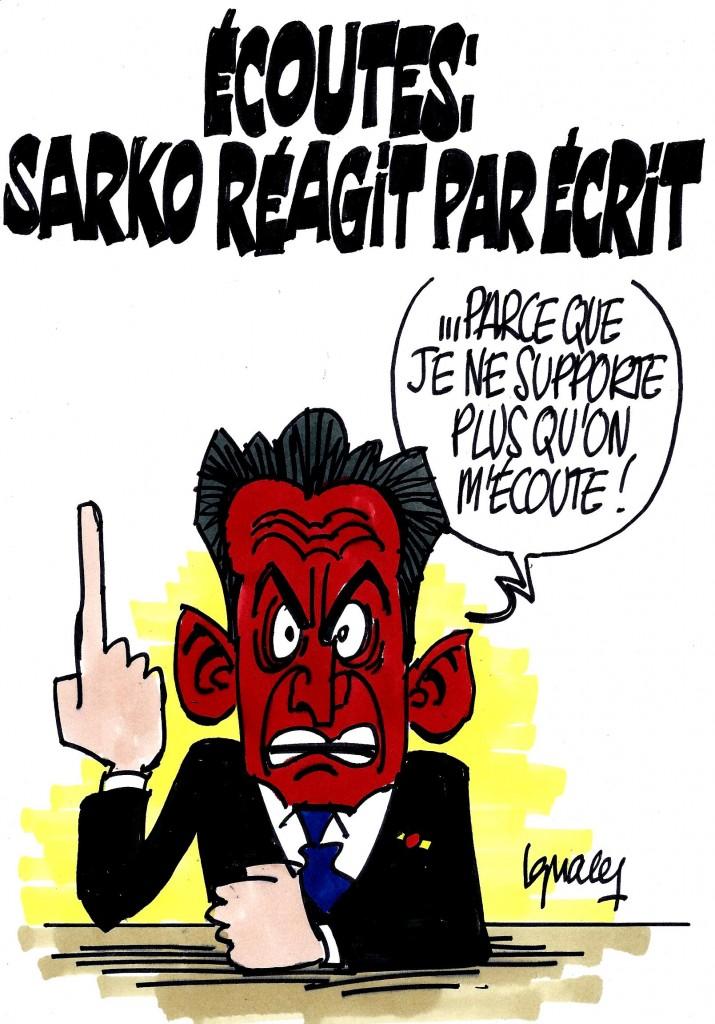 Ignace - Sarko réagit par écrit