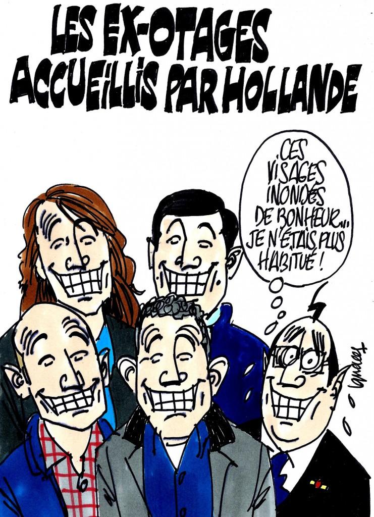 Ignace - Ex-otages accueillis par Hollande