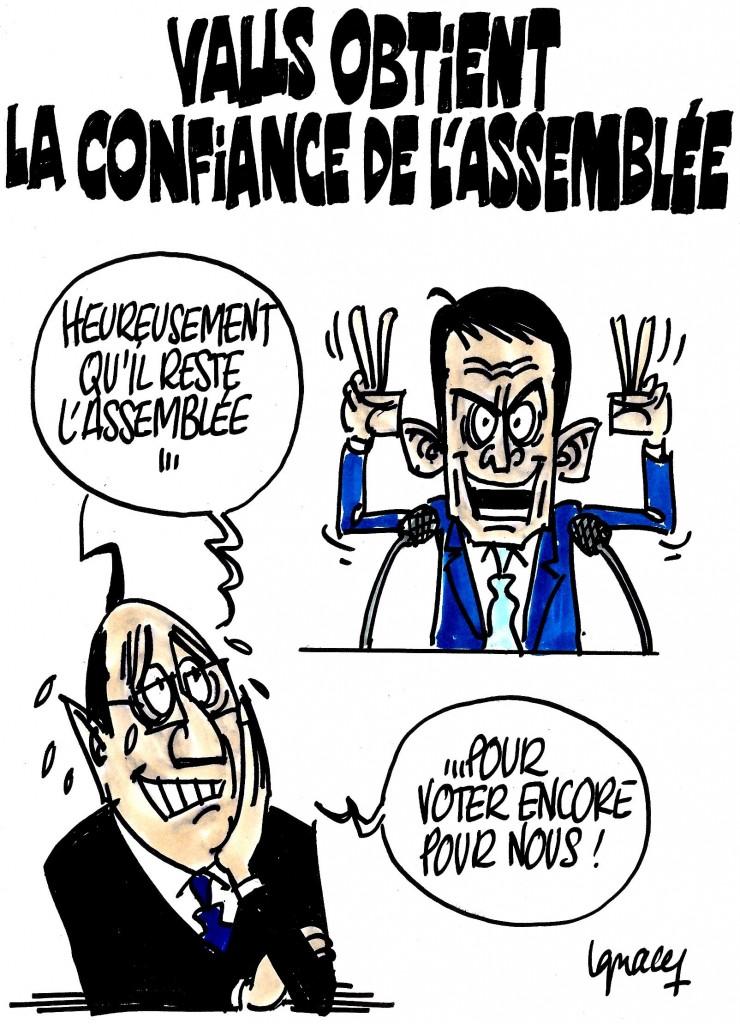 Ignace - L'Assemblée vote Valls