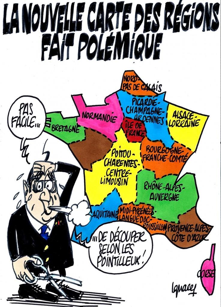 Ignace - Nouvelle carte des régions
