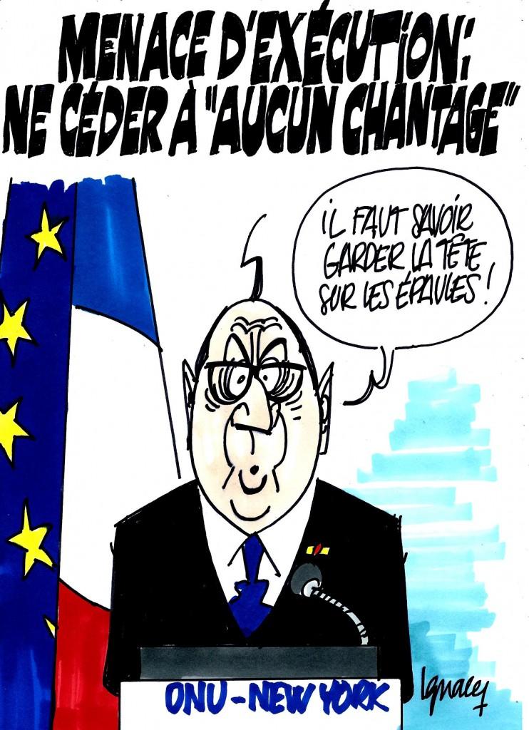 """Ignace - Otage : ne céder à """"aucun chantage"""""""