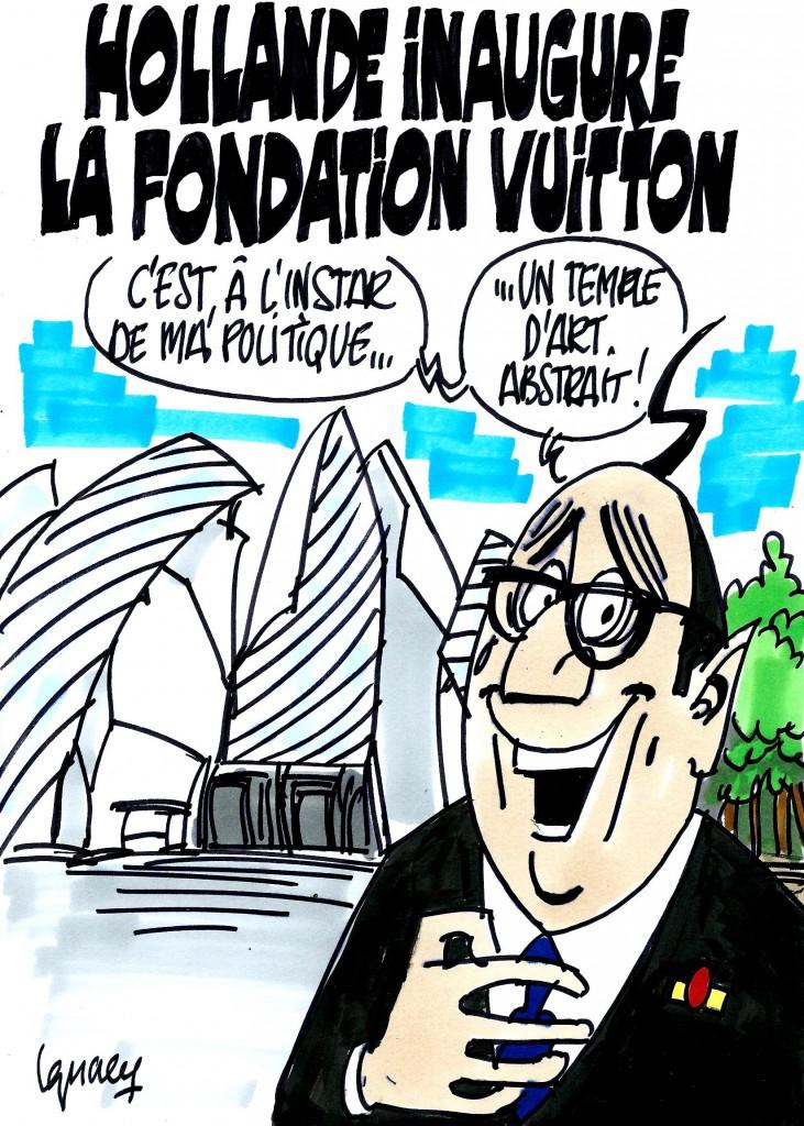Ignace - Hollande inaugure la fondation Vuitton