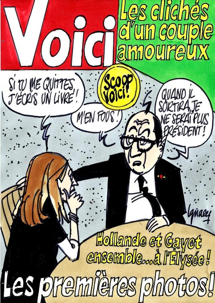 Ignace - Hollande et Gayet dans Voici