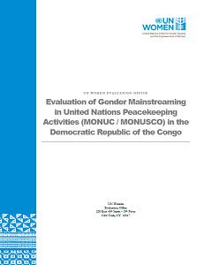 MONUSCO Evaluation report gender congo