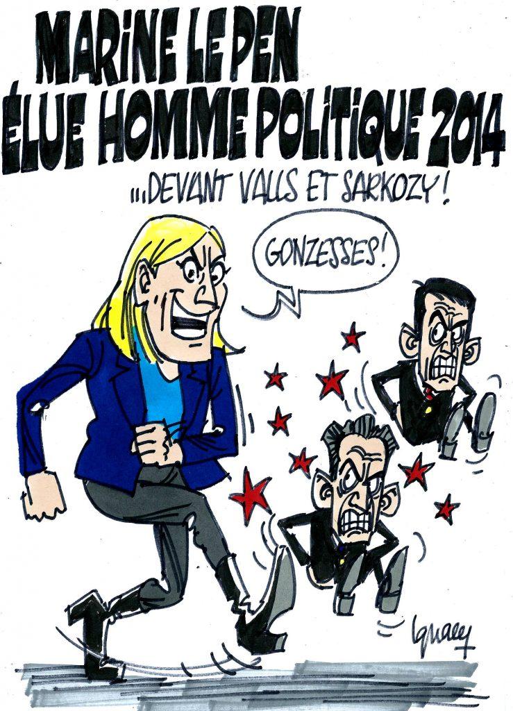 Ignace - Marine Le Pen, homme politique de l'année