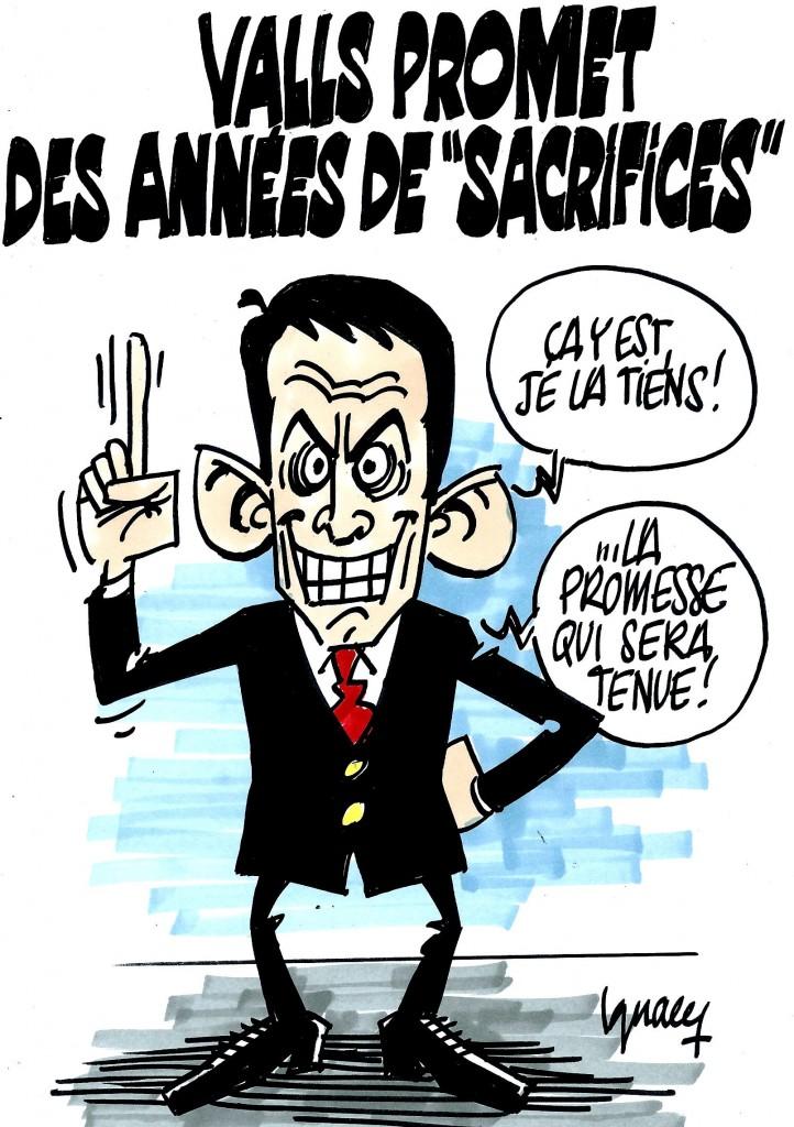 """Ignace - Valls promet des années de """"sacrifices"""""""