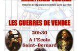 Samedi 10 janvier conférence à Bailly sur les guerres de Vendée
