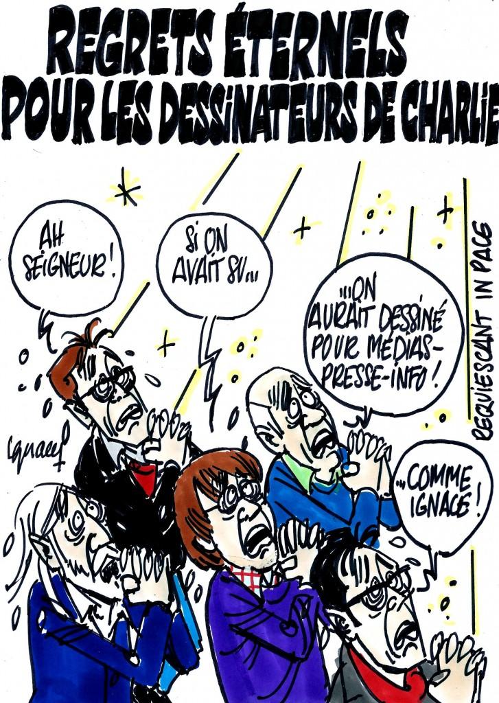 Ignace - Obsèques des dessinateurs de Charlie