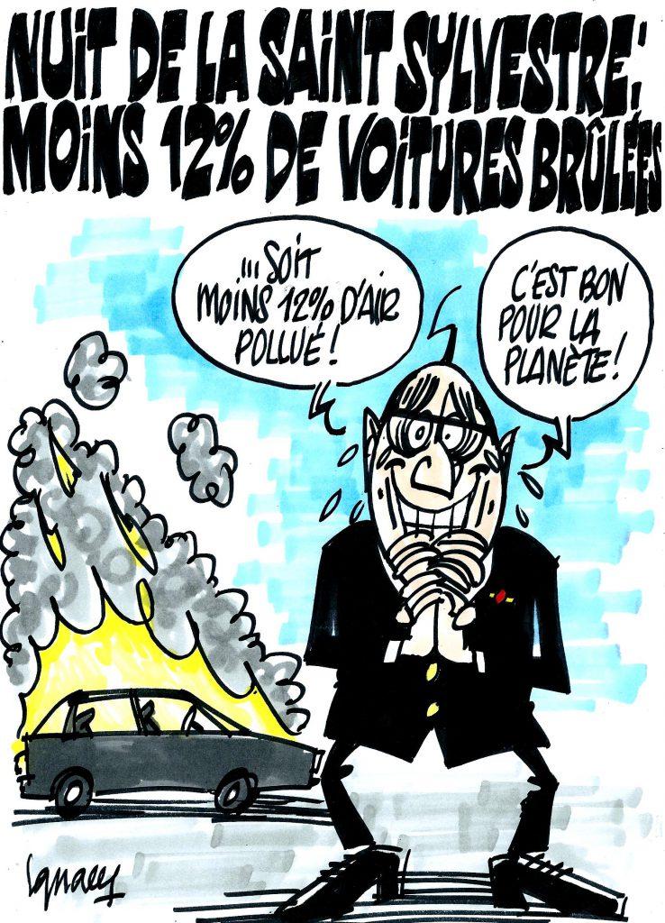 Ignace - Moins de voitures brûlées