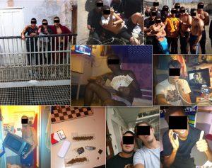Sélection de photos postées par les détenus sur Facebook