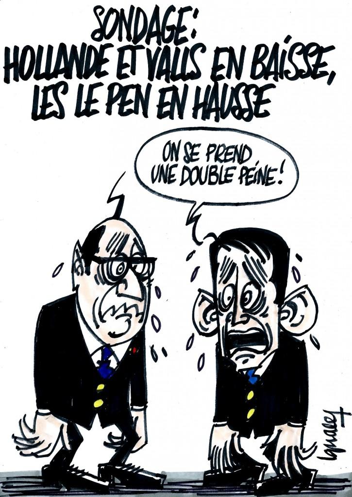 Ignace - Hollande et Valls baissent