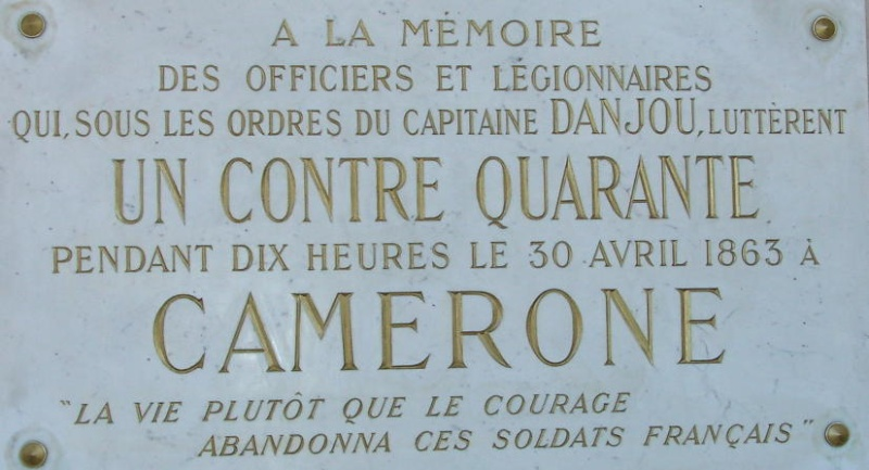 camerone-plaque
