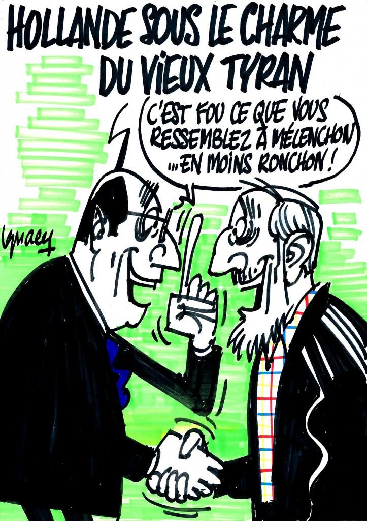 Ignace - Hollande sous le charme de Fidel Castro