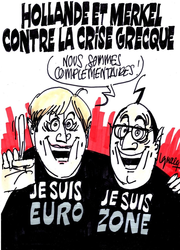 Ignace - Hollande, Merkel et la crise grecque