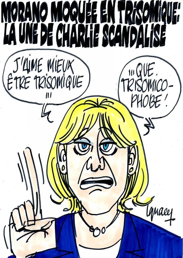 Ignace - Morano en trisomique à la une de Charlie Hebdo