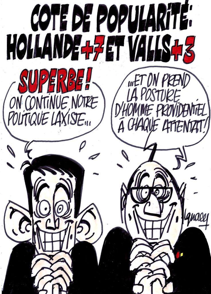 Ignace - Popularité en hausse pour Hollande et Valls
