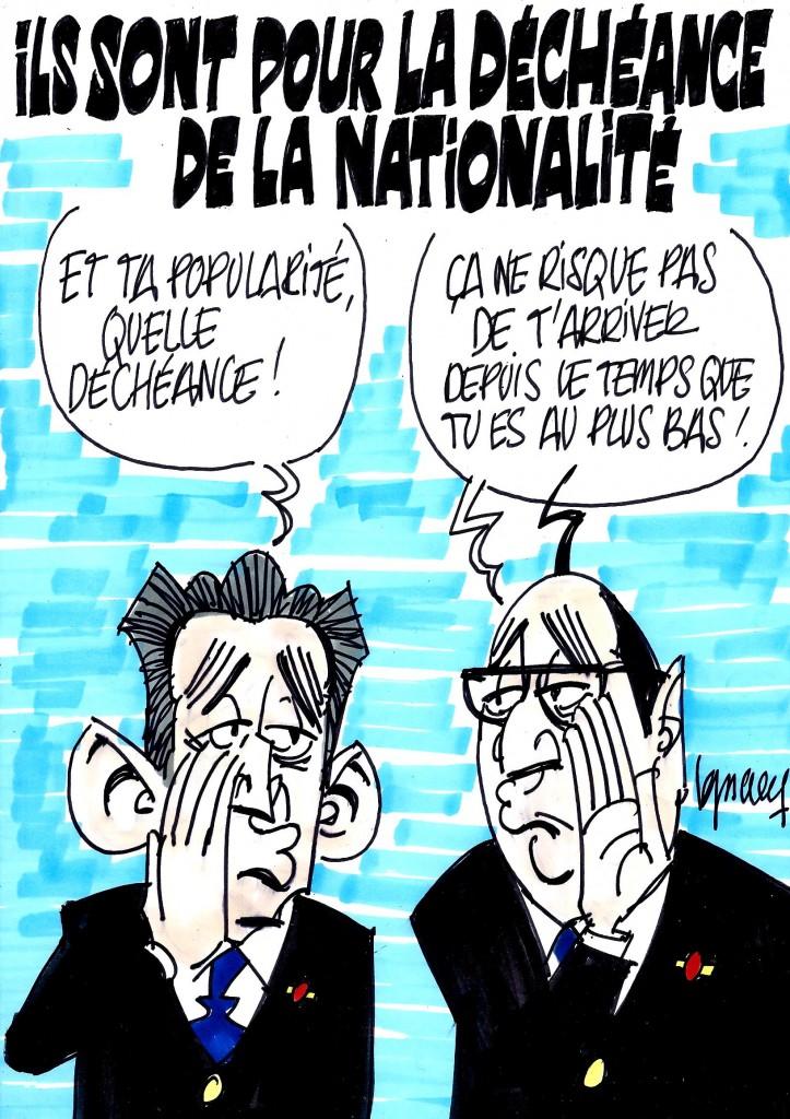 Ignace - Hollande et Sarkozy d'accords sur la déchéance de la nationalité