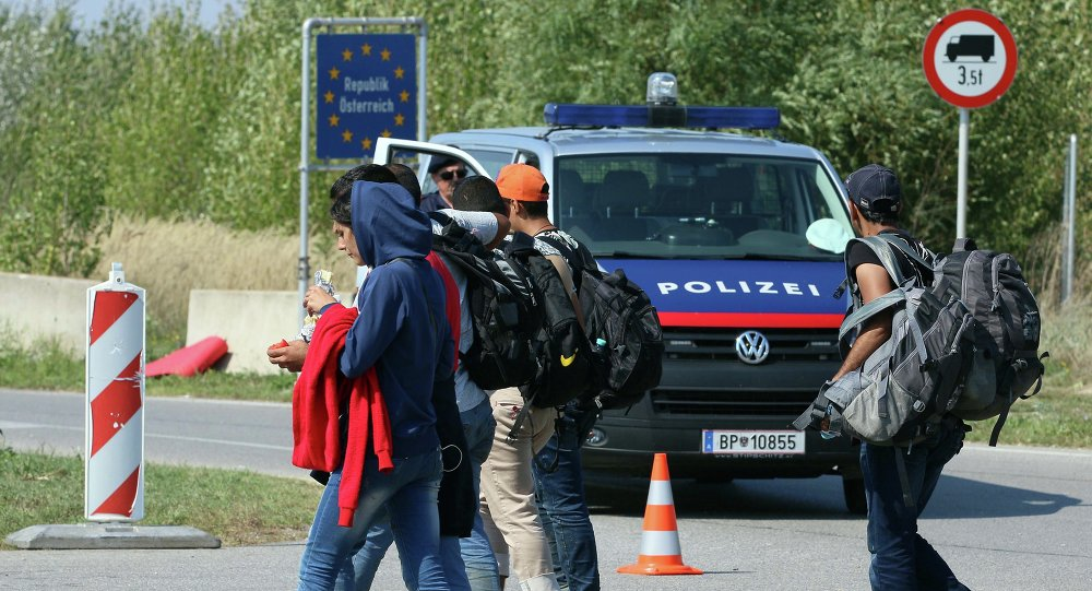 Autriche police migrants