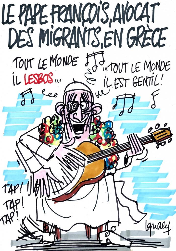 Ignace - Le pape François à Lesbos