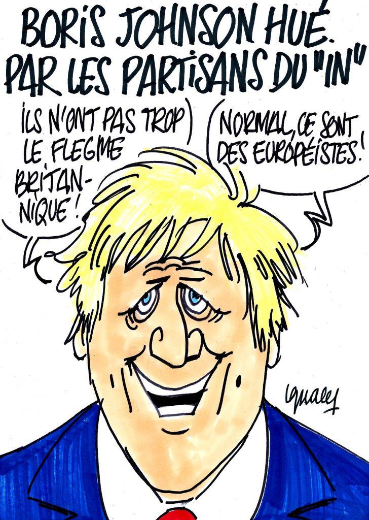 """Ignace - Boris Johnson hué par les partisans du """"In"""""""