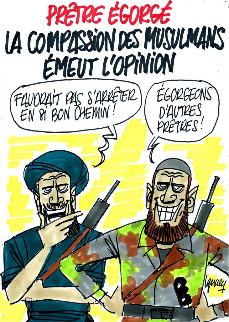 Ignace - Prêtre égorgé : la compassion des musulmans émeut