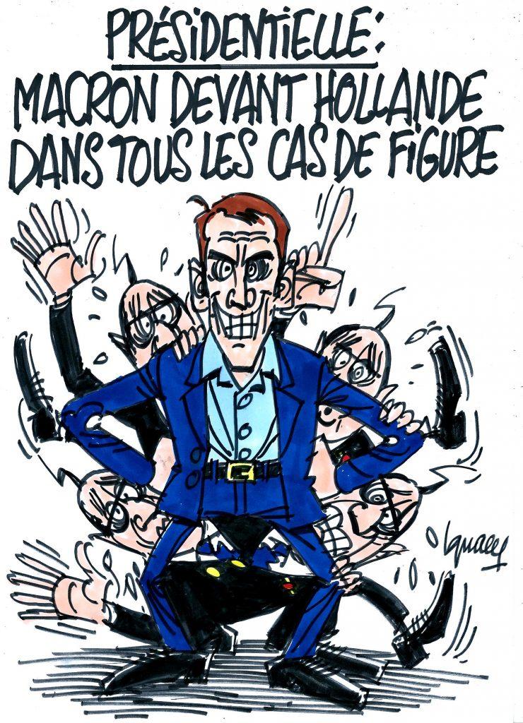 Ignace - Macron devant Hollande