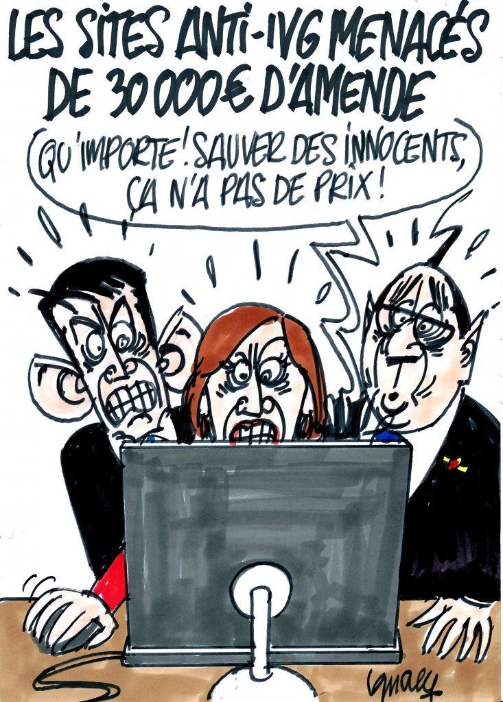 Ignace - Sites anti-IVG menacés de 30000 euros d'amende