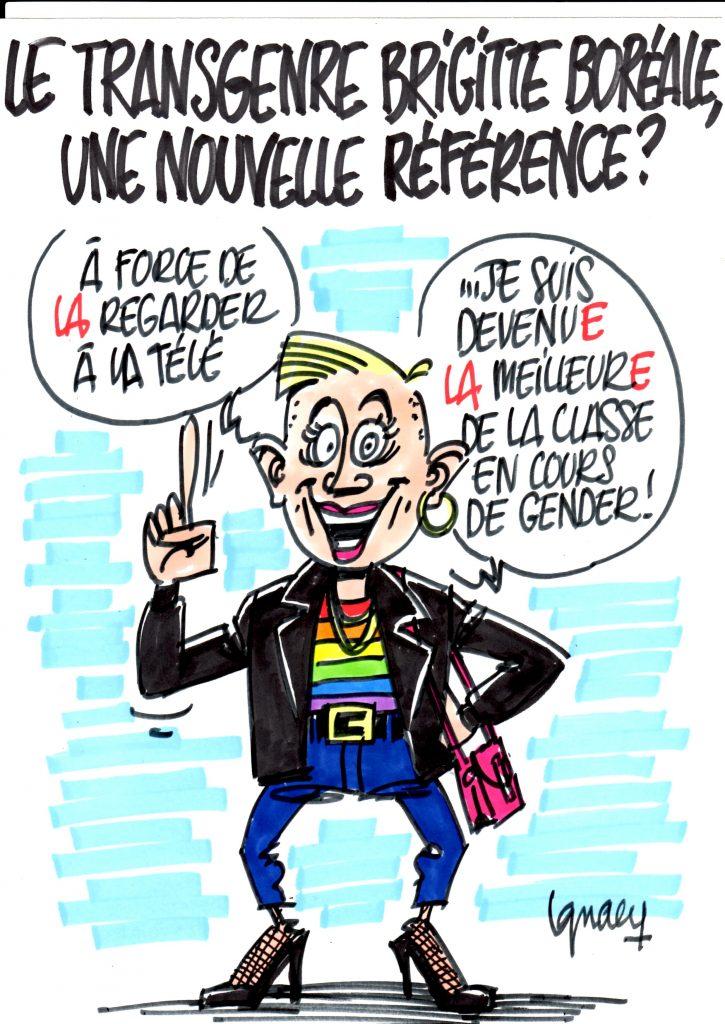 Ignace - Le transgenre Brigitte Boréale fait école