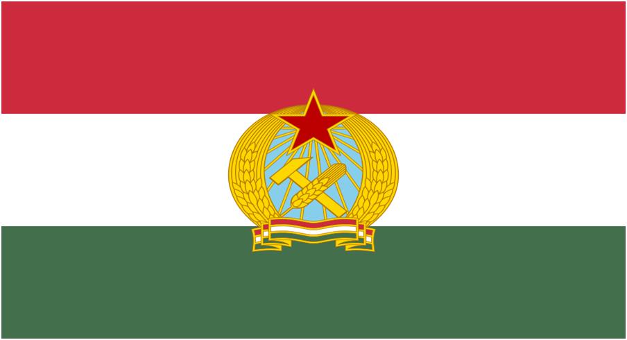 Drapeau du régime communiste hongrois 1949-1956