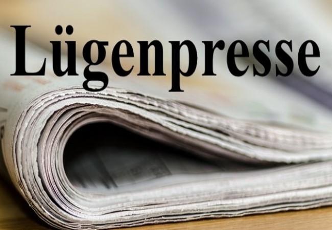 Légende : La presse à mensonges