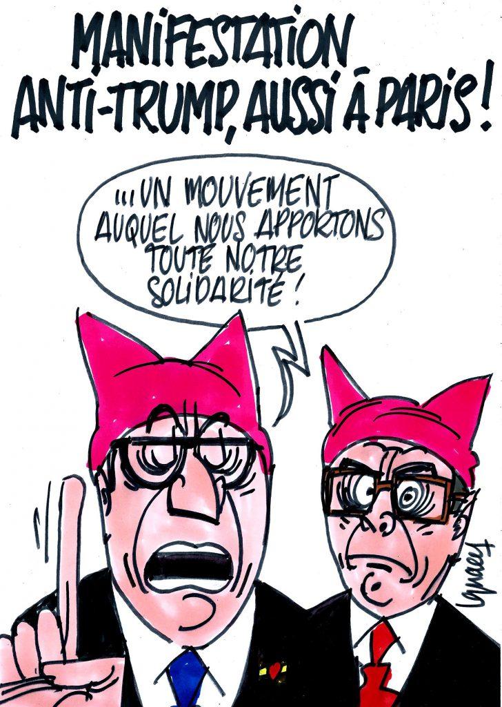 Ignace - Manifestation anti-Trump à Paris