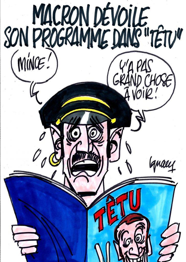 """Ignace - Macron dévoile son programme dans """"Têtu"""""""