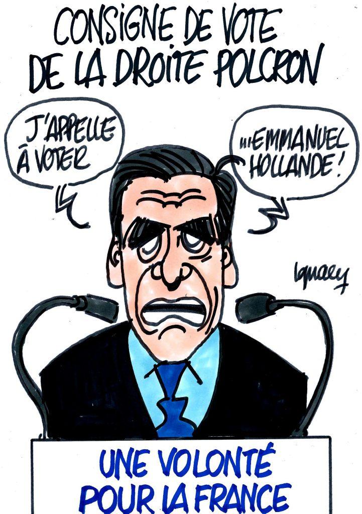 Ignace - Consigne de vote de la droite polcron