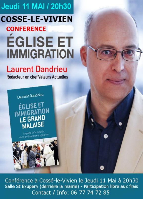 Conférence «Eglise et immigration» à Cosse le Vivien